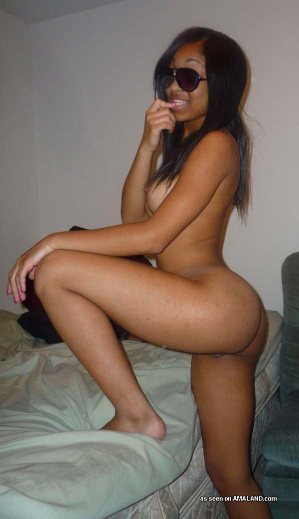 Naked ebony girls self shot